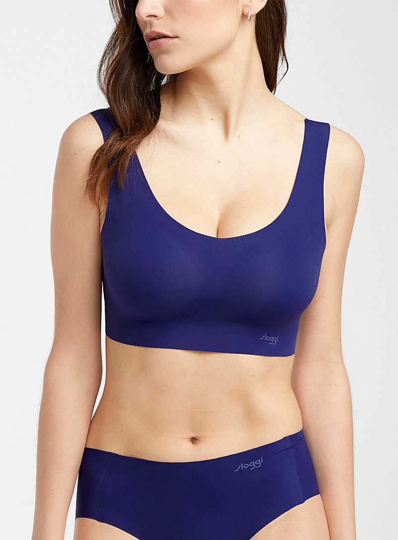 Sloggi Marine Blue Zero Feel colourful bralette for women