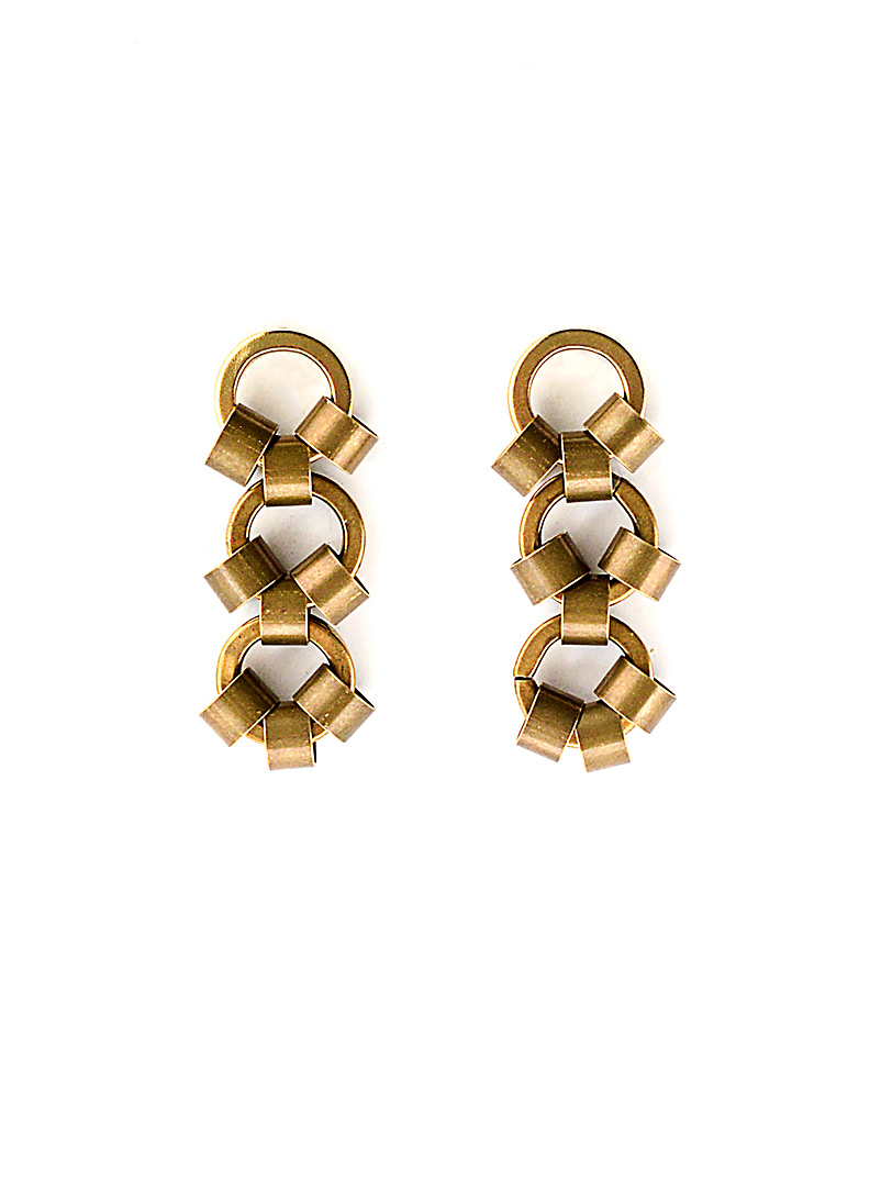 Michelle Ross Brass Ginni earrings