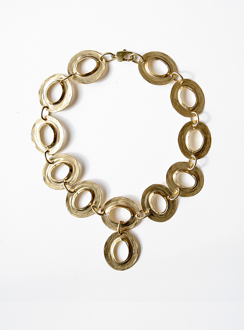 Michelle Ross Brass Drew necklace