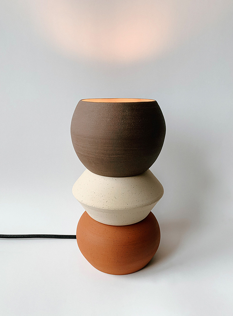 AND Ceramic Studio Assorted brown  Supernovae ambient light 21.5 cm high