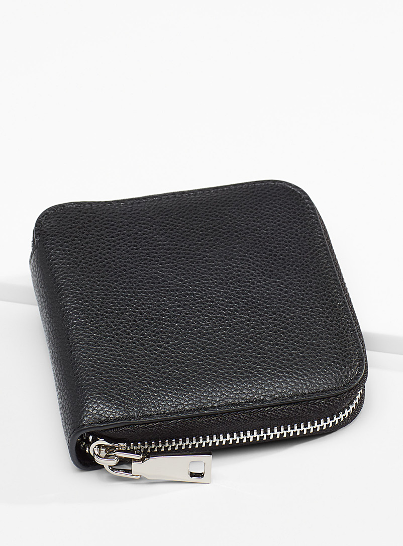 Simons Black Square recycled leather wallet for women