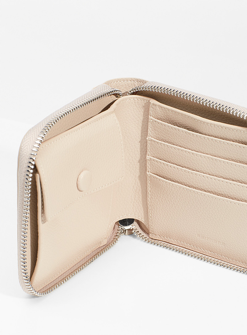 Simons Brown Square recycled leather wallet for women