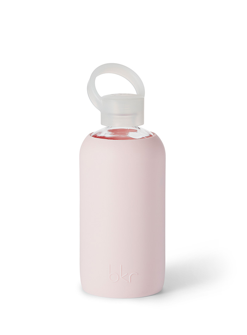 Bkr Pink Small reusable glass and silicone bottle for women
