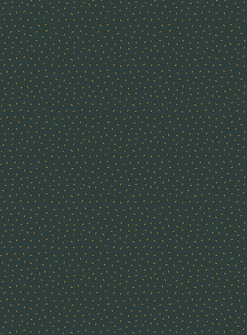 Meraki Assorted green Pop confettis self-adhesive wallpaper strip In collaboration with artist Marie-France Auger