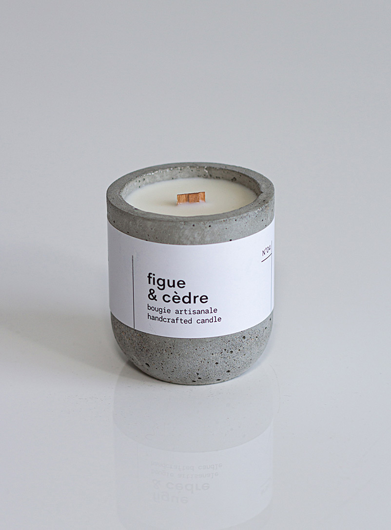 Esser Green Candle in a reusable cement jar