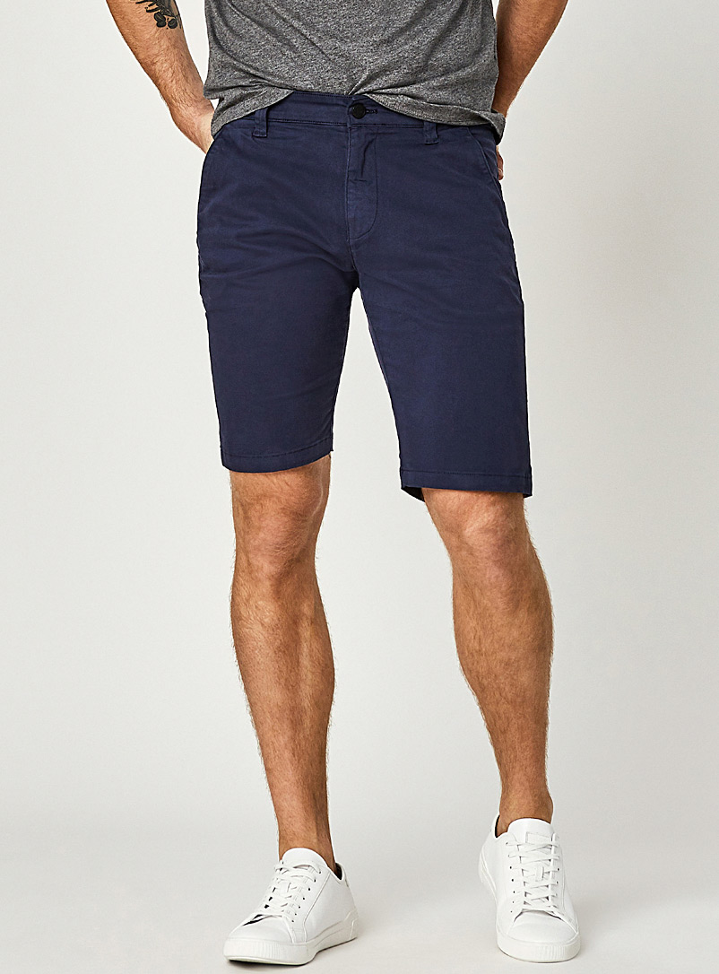 Mavi Jeans Marine Blue Jacob navy chinos Bermudas for men