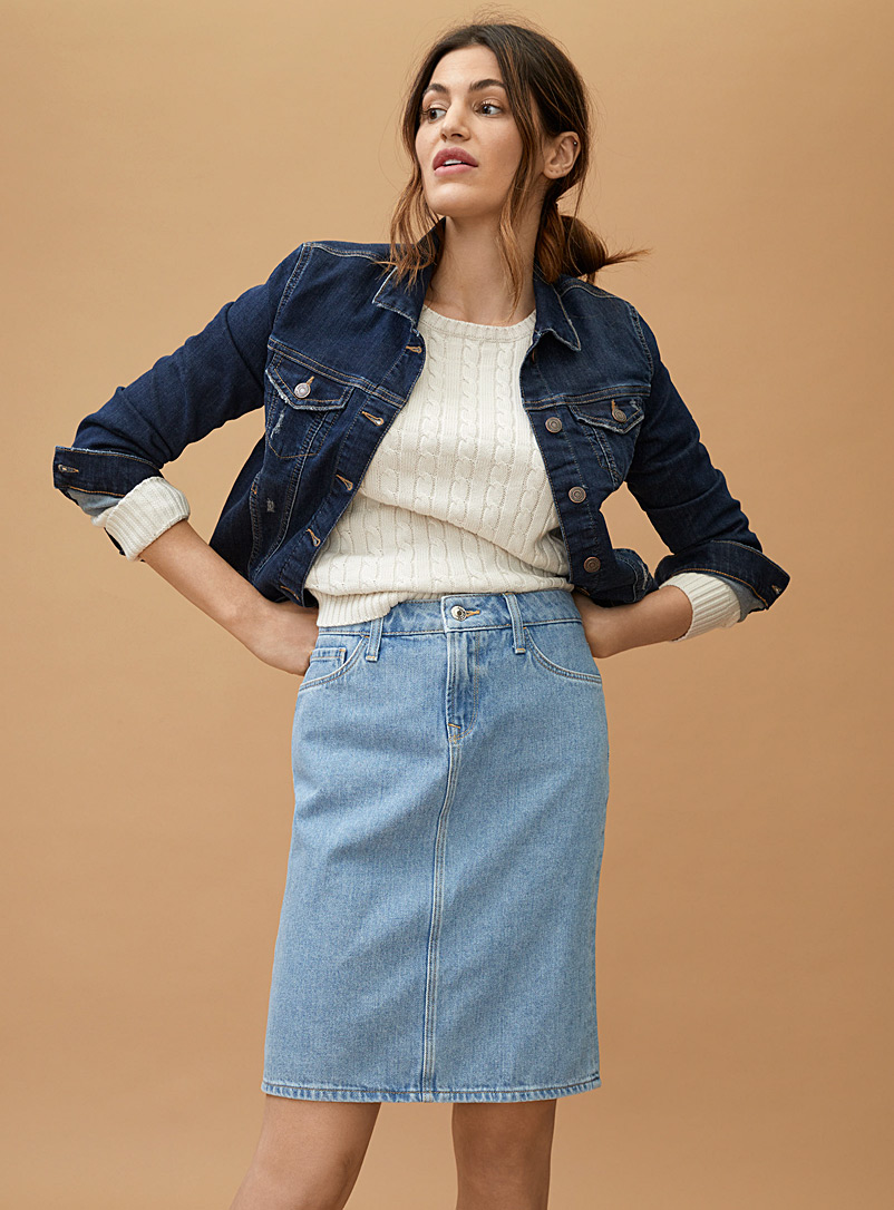 Mavi Jeans Blue Bleached blue Julie denim skirt for women