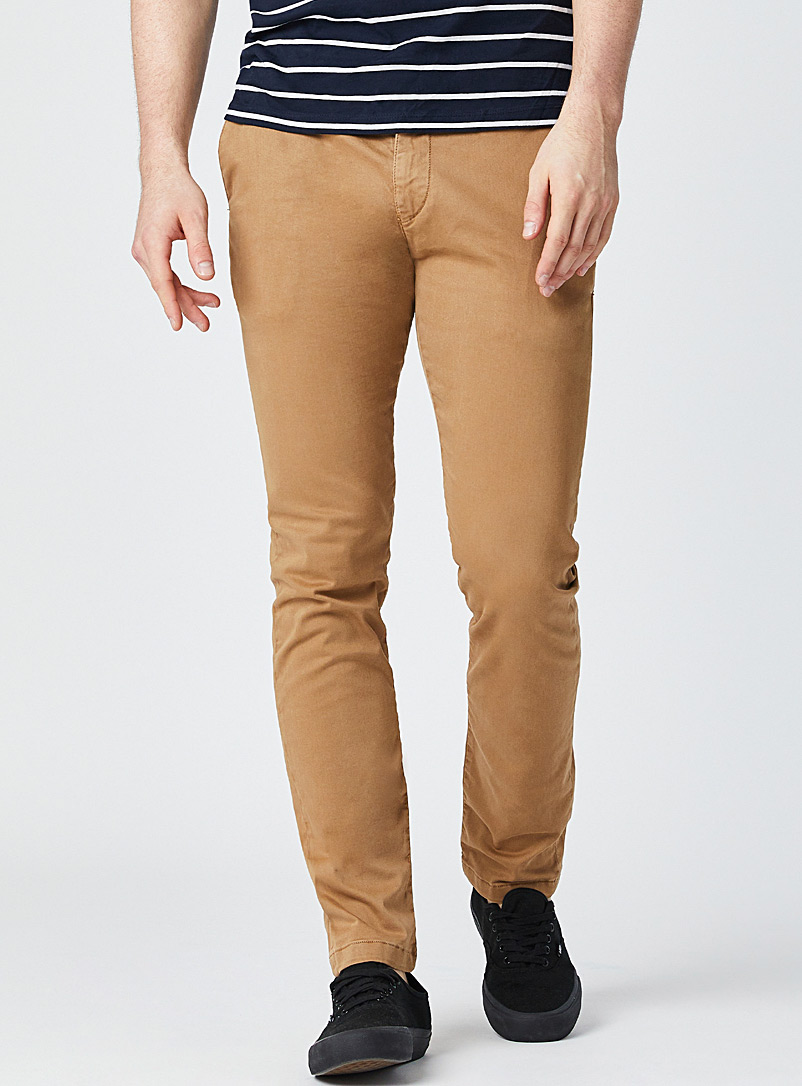 Mavi Jeans Brown Amber Johnny chinos Slim fit for men