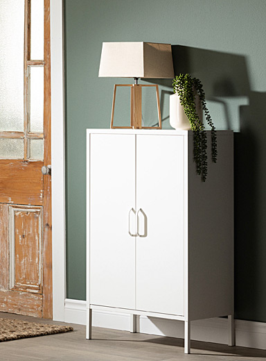 All metal Crea footed cabinet