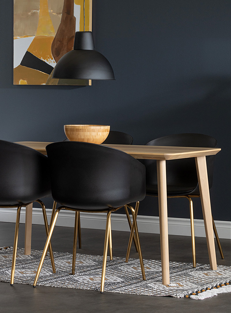 South Shore Black Chic golden Flam chairs Set of 2