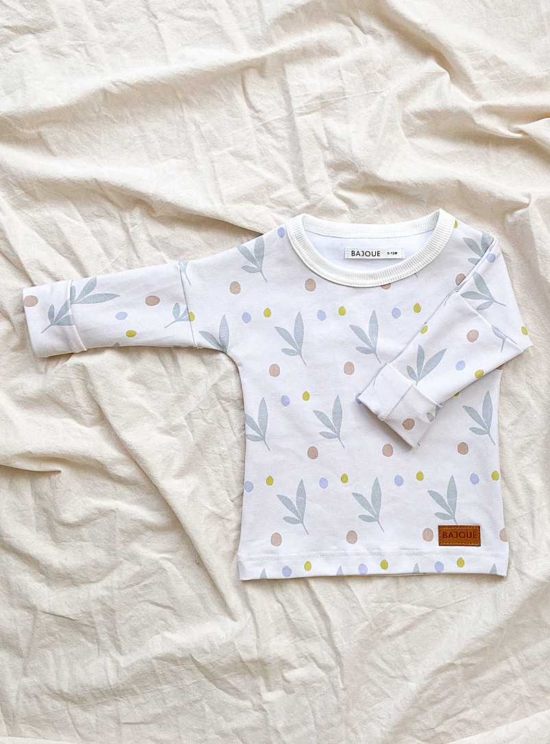 Bajoue Assorted blue Summer print organic cotton grow-with-me sweater Kids
