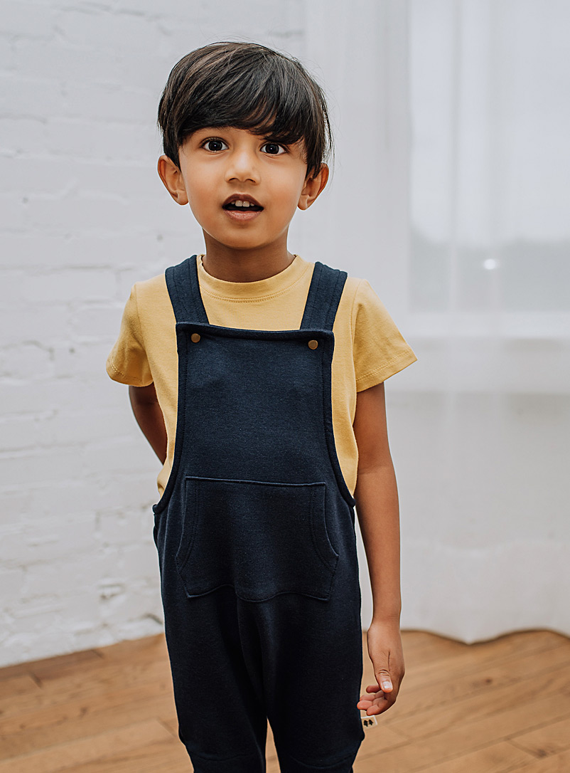 Little Thunder Pink Solid Hygge overall Kids