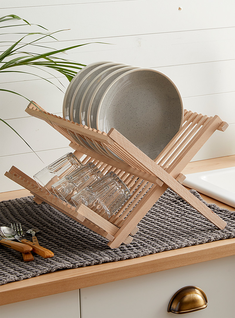 Simons Maison Assorted Solid wood fold-up dish drying rack