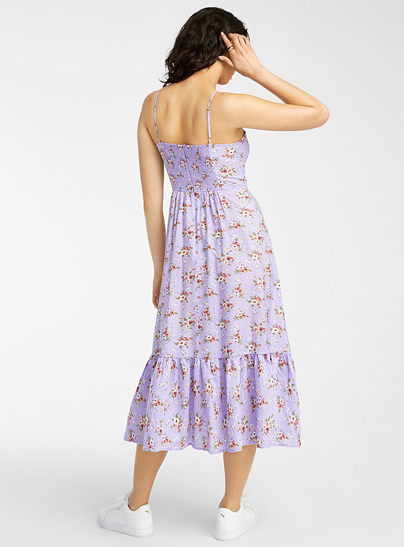 Icône Lilacs Ditsy floral lilac dress for women