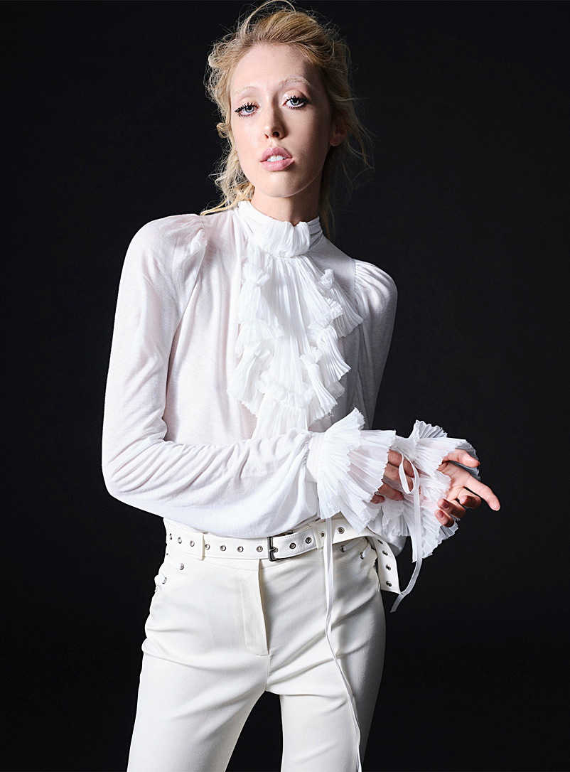 UNTTLD Ivory White Georgian top for women