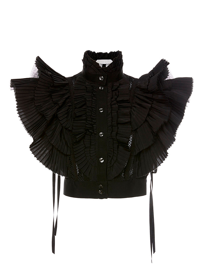 UNTTLD Black Victoria top for women