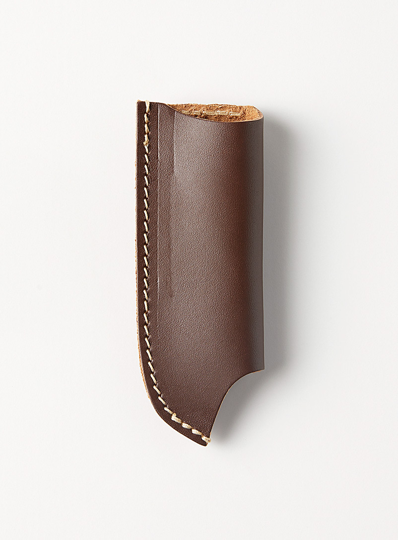 Oopsmark Brown Leather pocket knife case for belts 2 sizes available