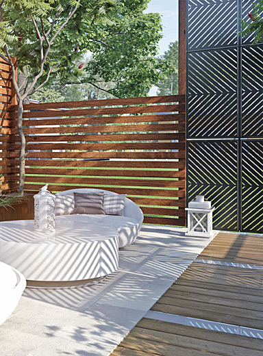 Single-panel privacy screen Available in different patterns