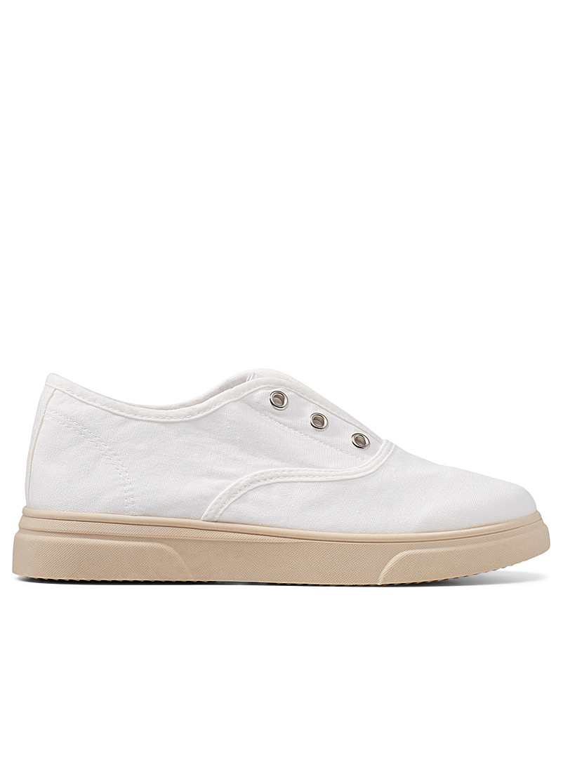 Simons Green Lace-free slip-on sneakers for women