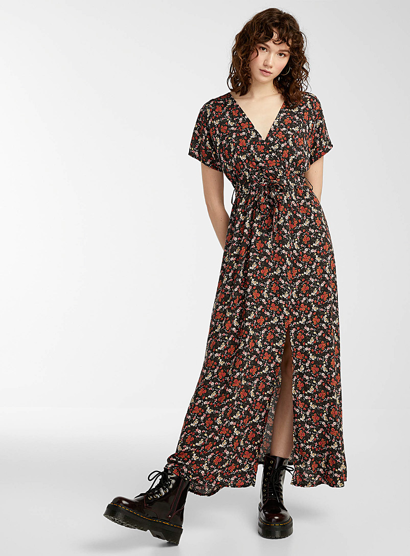 Twik Assorted Floral crossover maxi dress for women
