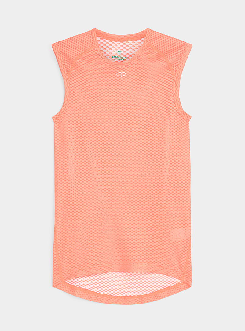 Peppermint Coral Optical micro-mesh breathable cami for women