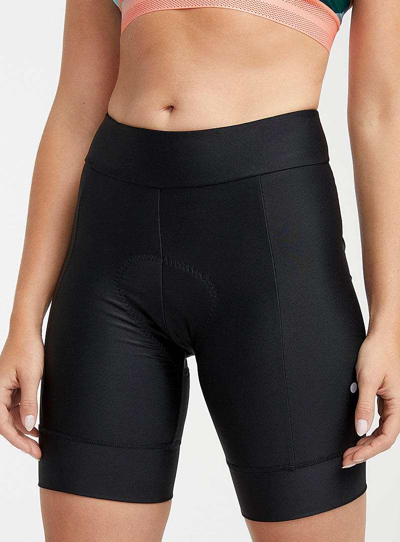Peppermint Black Essential 8-inch cycling short for women