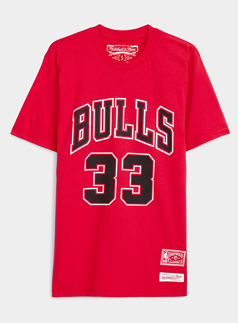 Mitchell & Ness: Le t-shirt basketball Pippen 33 Rouge pour femme