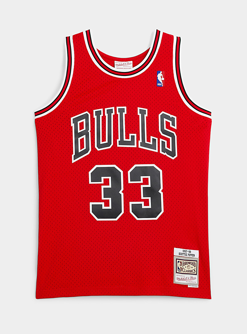 Mitchell & Ness: La camisole basketball Pippen 33 Rouge pour homme