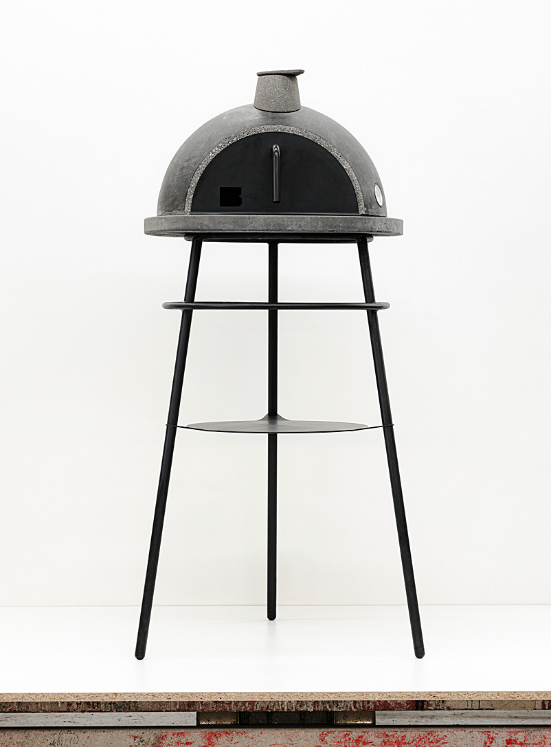 AtelierB Assorted grey Bouki wood-fired oven with stand
