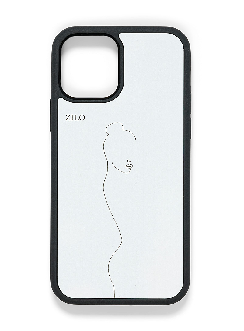 Zilo Patterned White Artist canvas iPhone 12/12 Pro case for women