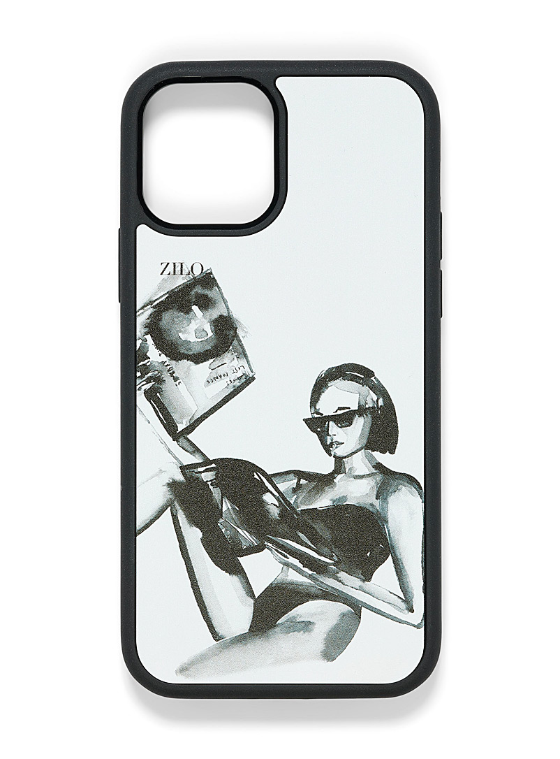 Zilo Black and White Artist canvas iPhone 12/12 Pro case for women