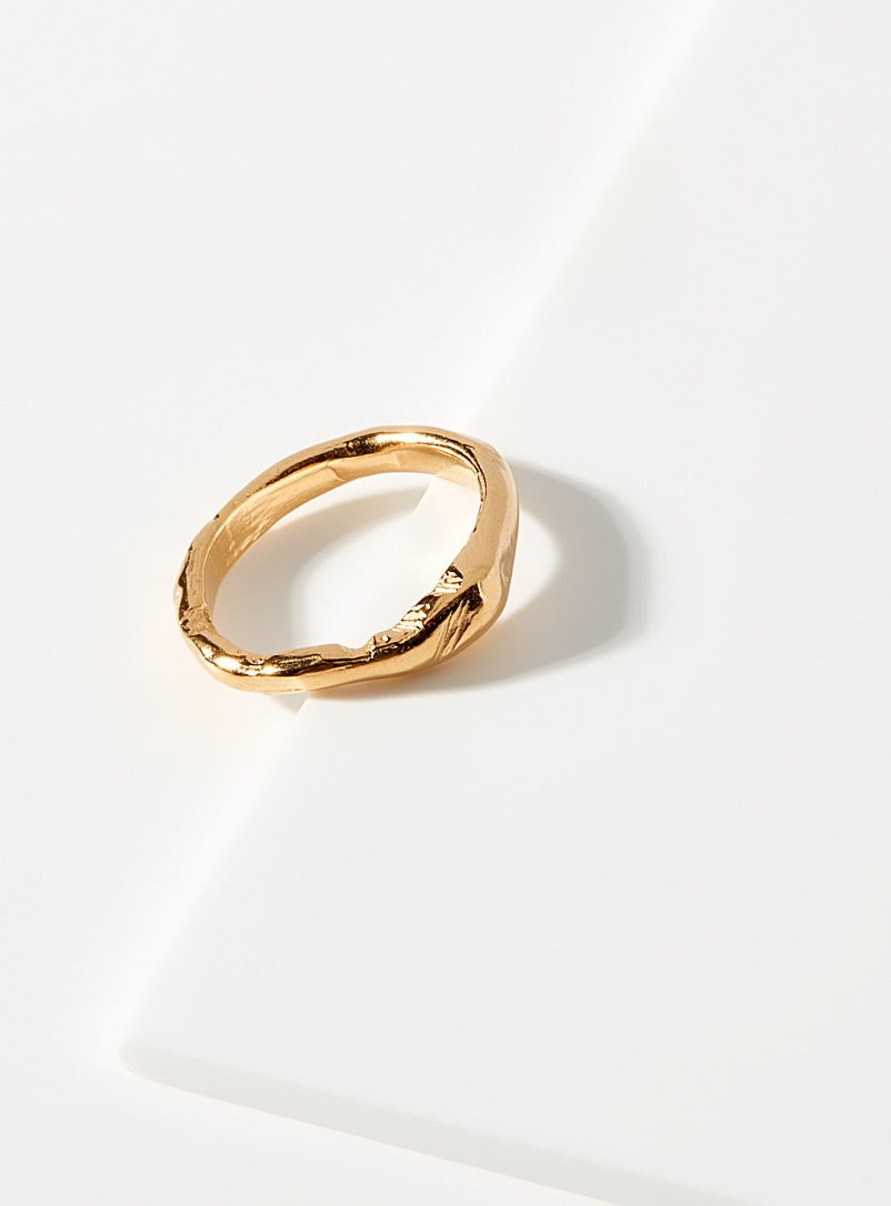Released From Love Assorted Hammered golden ring for women