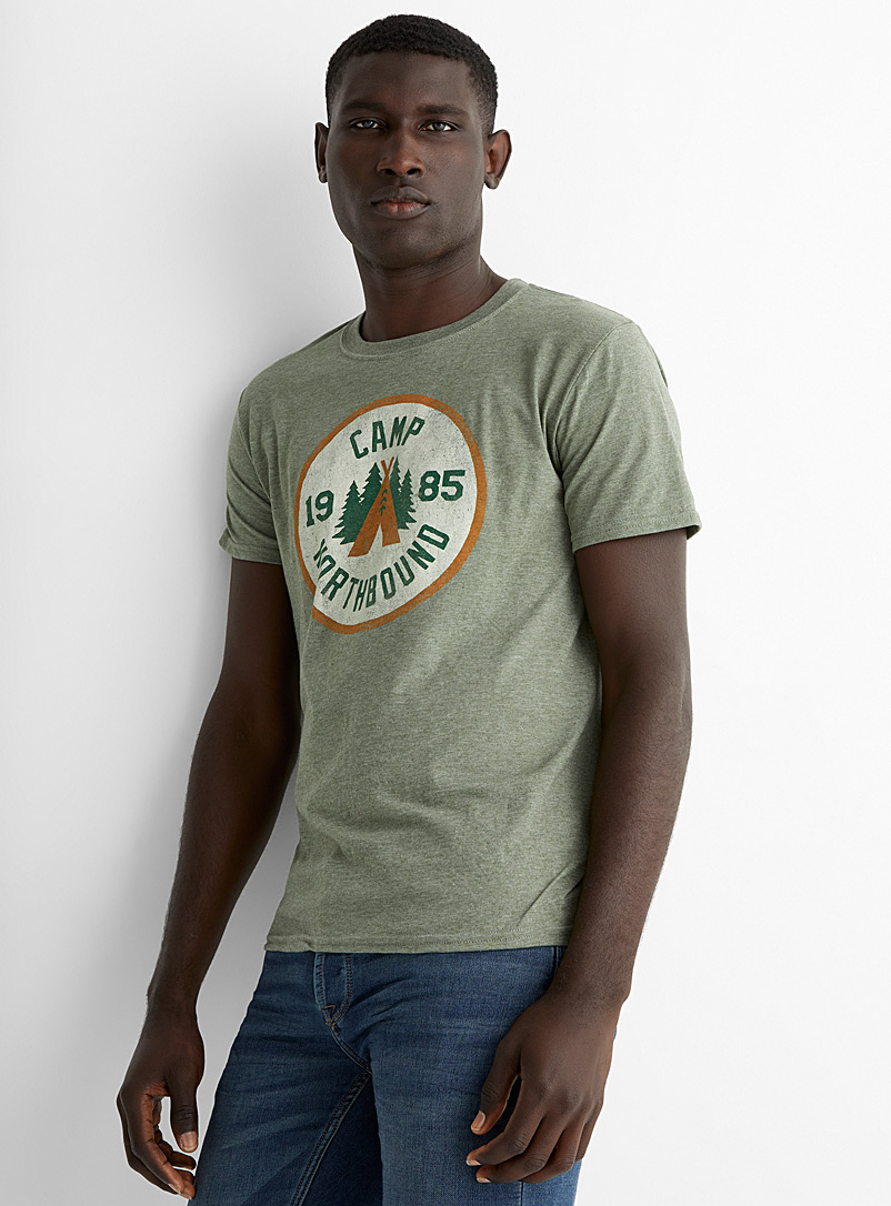 Northbound Mossy Green Camp 1985 T-shirt for men
