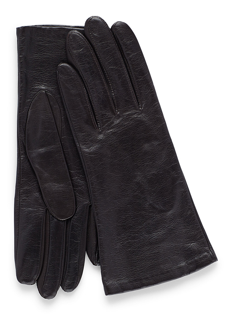 Soft leather gloves - Leather & Suede - Black