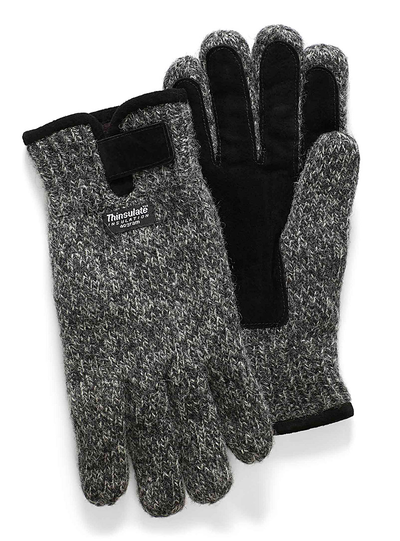 Lined wool gloves - Gloves - Charcoal