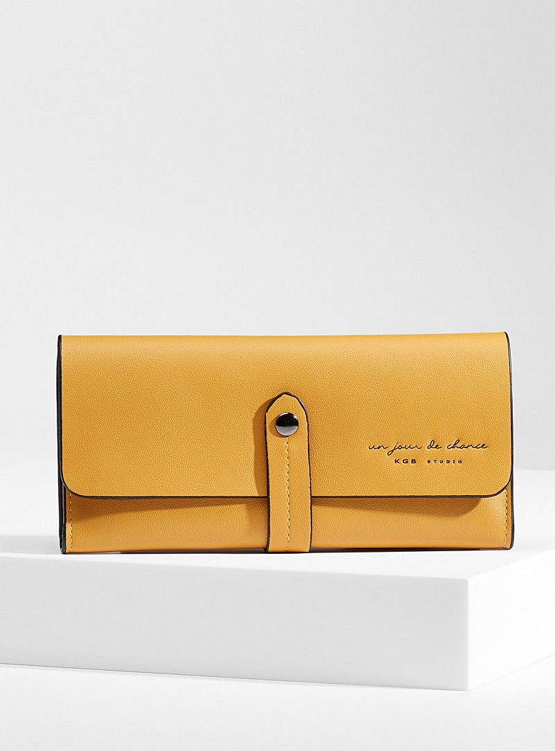 Simons Yellow  Minimalist belted wallet for women