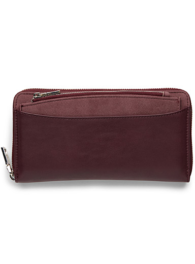 Faux-leather utilitarian wallet