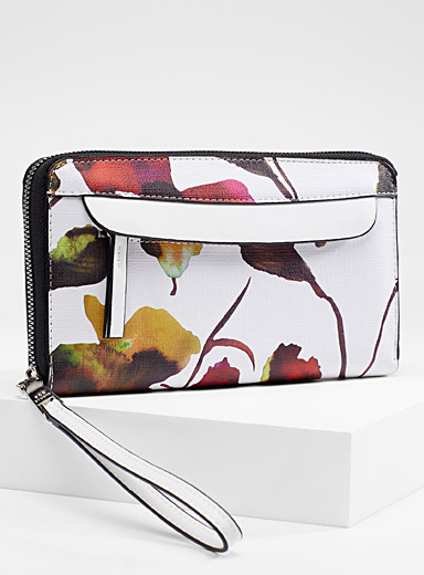 Painterly floral wallet