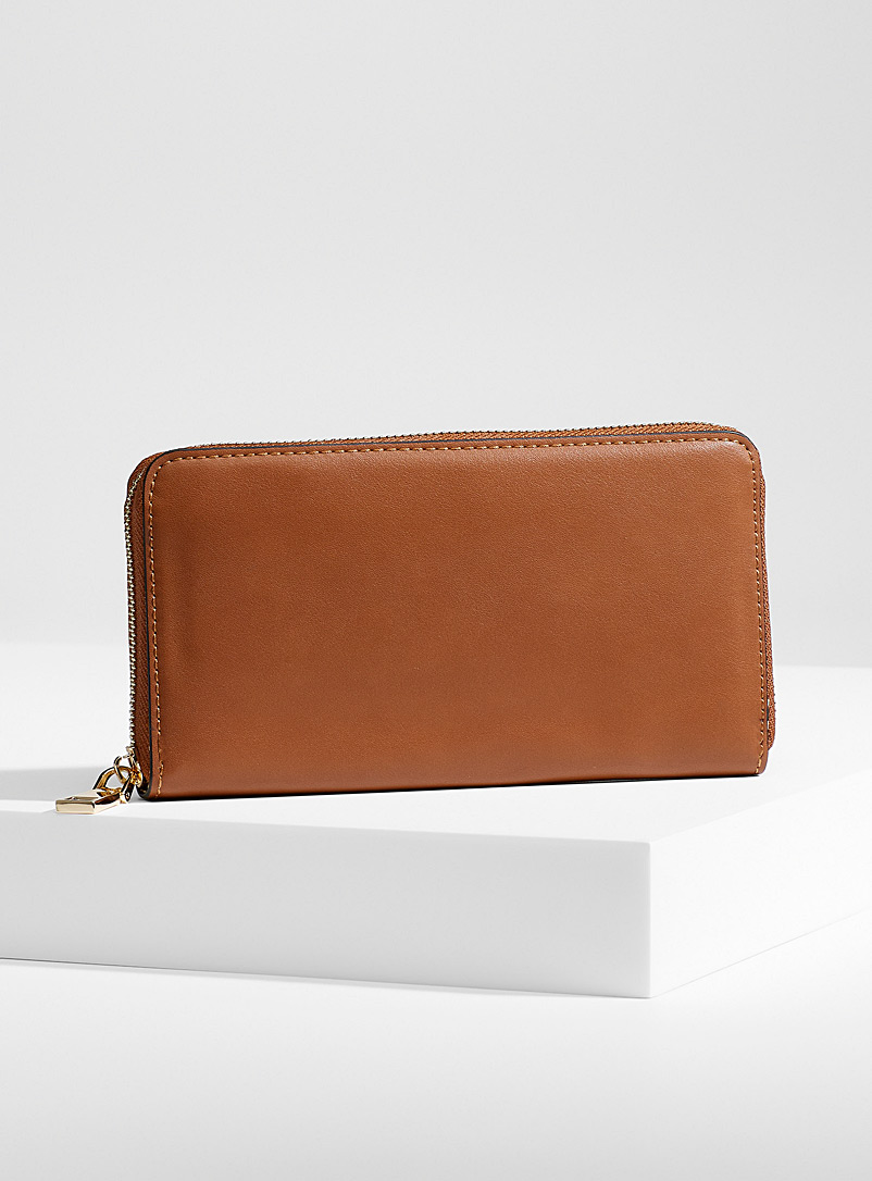 Simons Medium Brown Colourful wallet for women
