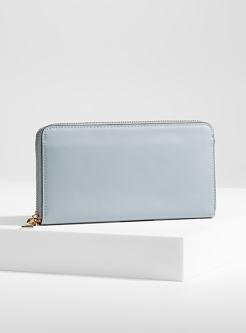Simons Baby Blue Colourful wallet for women