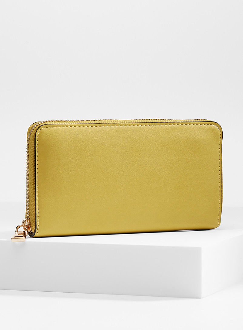 Simons Golden Yellow Organization wallet for women