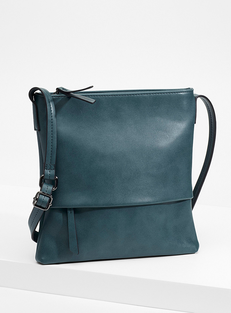 Colourful shoulder bag - Crossbody Bags - Teal