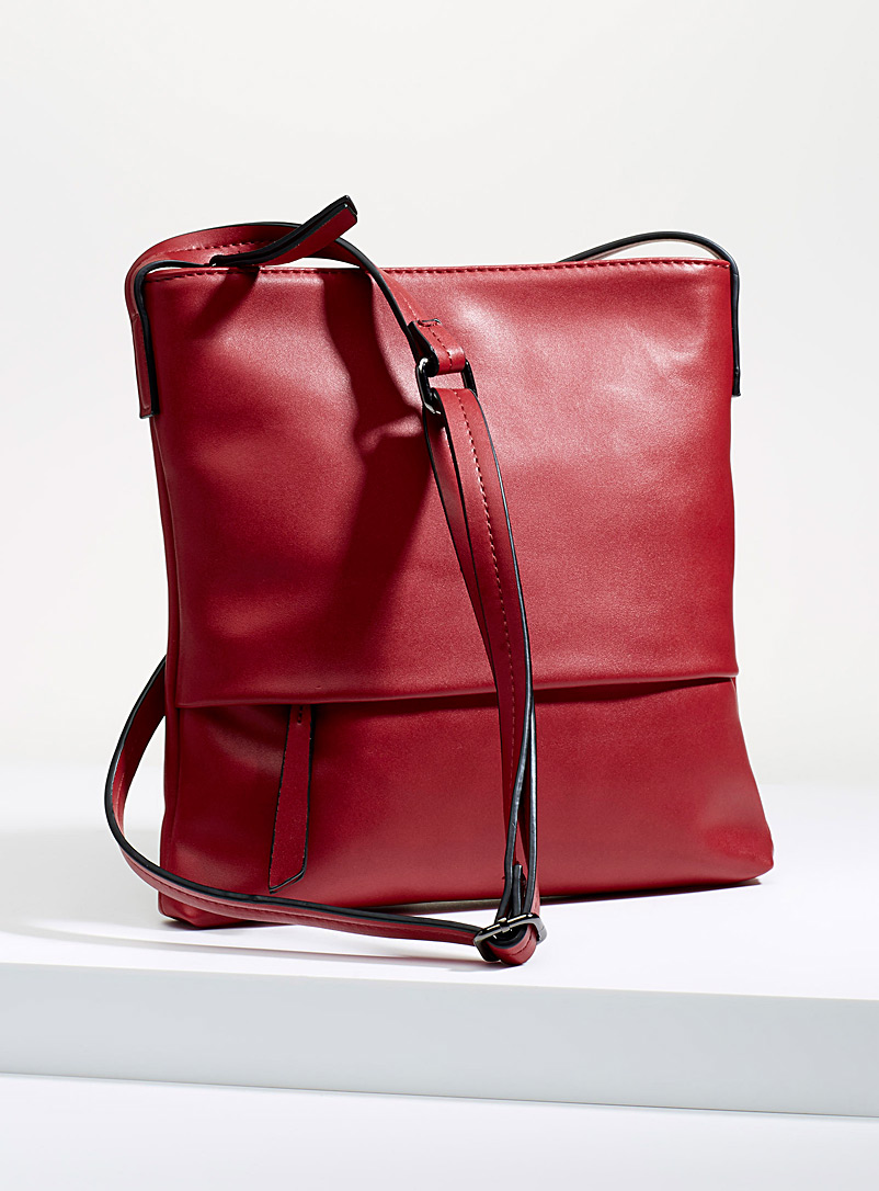 Colourful shoulder bag - Crossbody Bags - Red