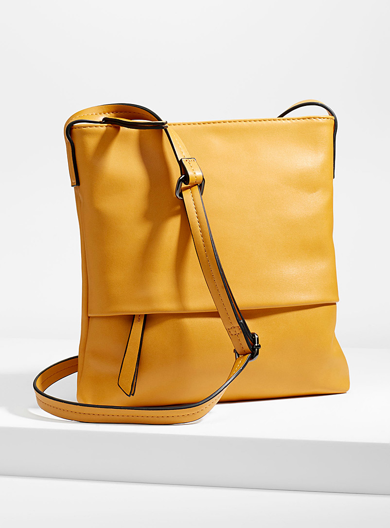 Colourful shoulder bag - Crossbody Bags - Dark Yellow