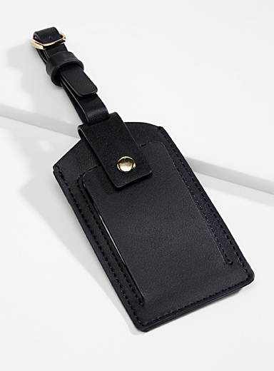 Faux-leather luggage tag