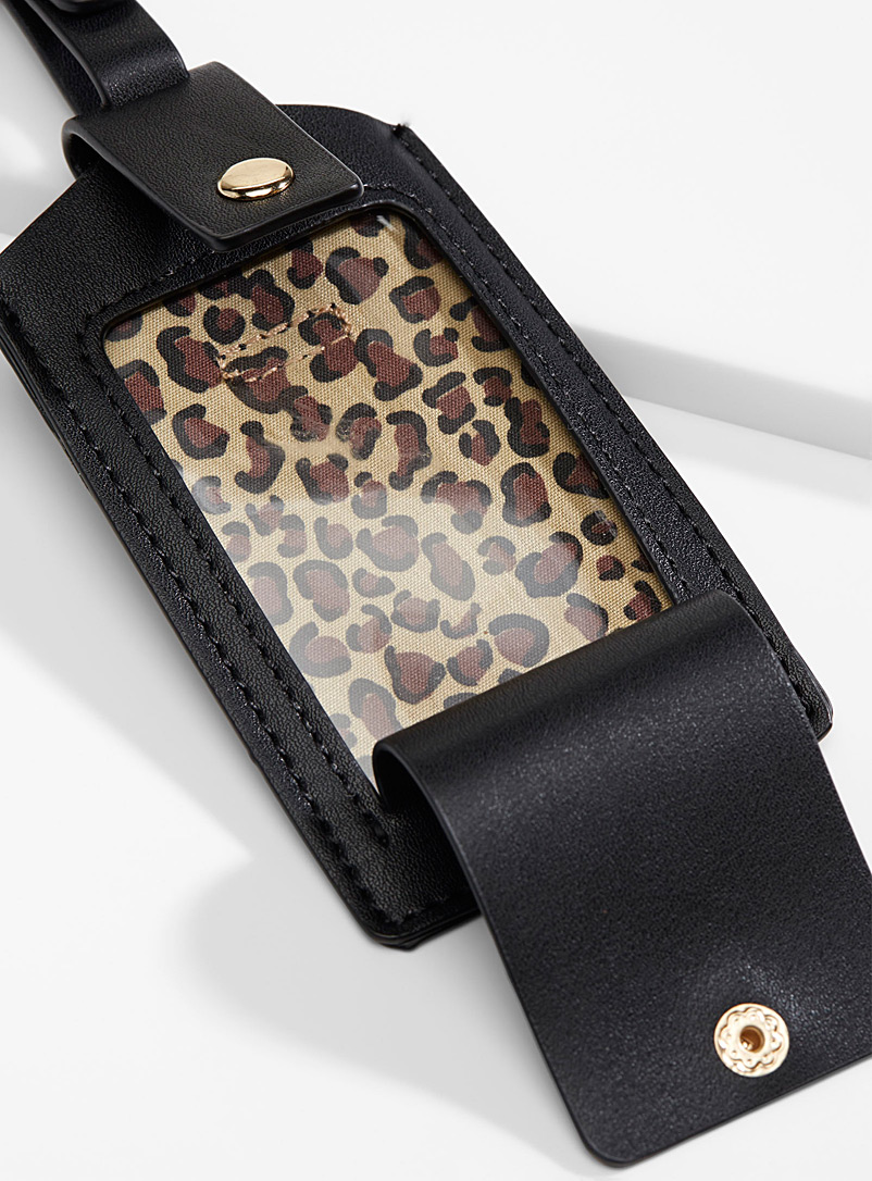 Simons Brown Faux-leather luggage tag for women