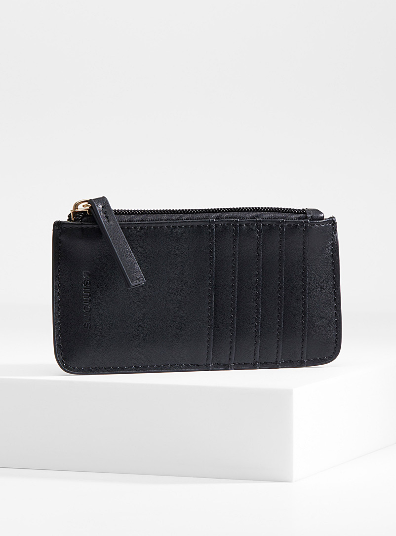 Simons Black Traveller card holder for women