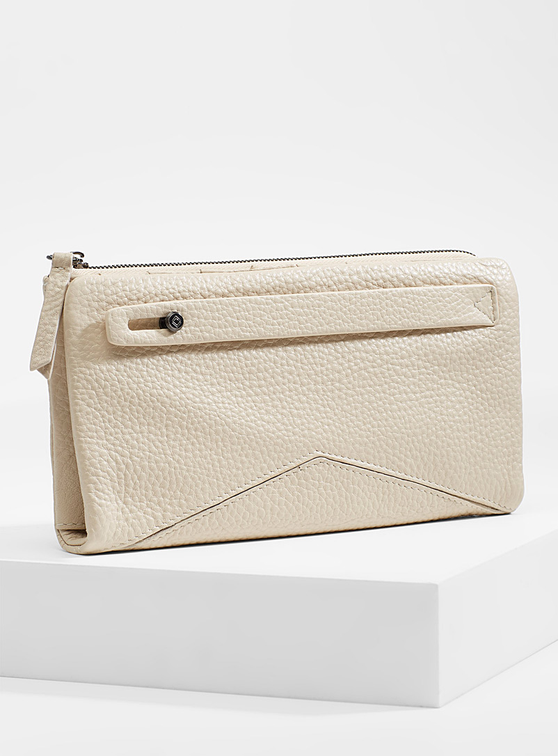 Midnight Runner wallet - Leather - Ivory White