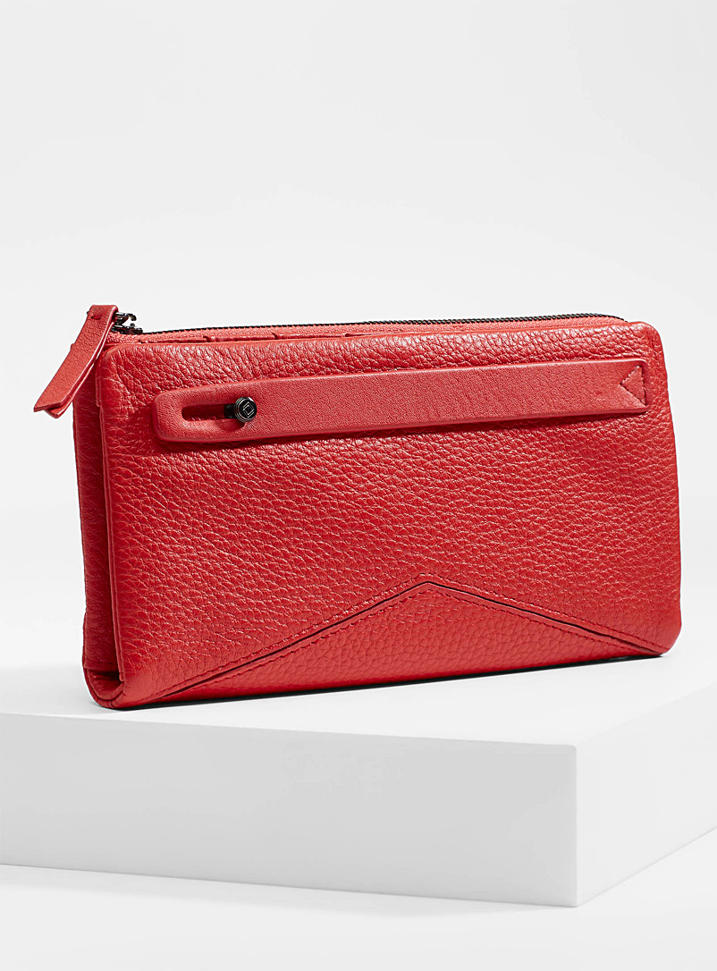 Midnight Runner wallet - Leather - Red