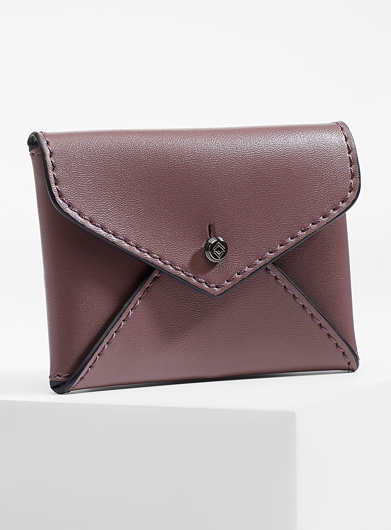 Smooth leather envelope card holder - Wallets - Mauve
